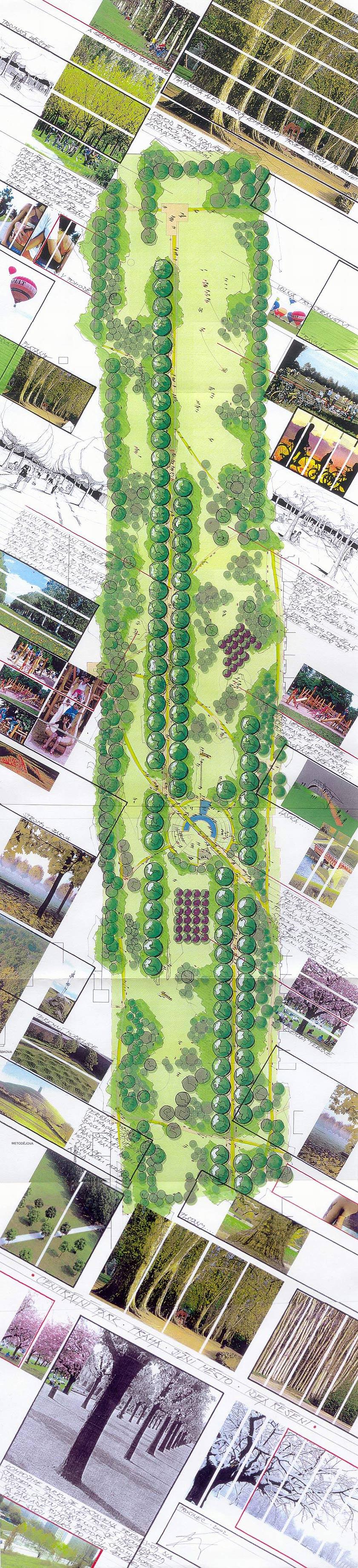 Studie stavby Centrálního parku, obrázek se otevře v novém okně