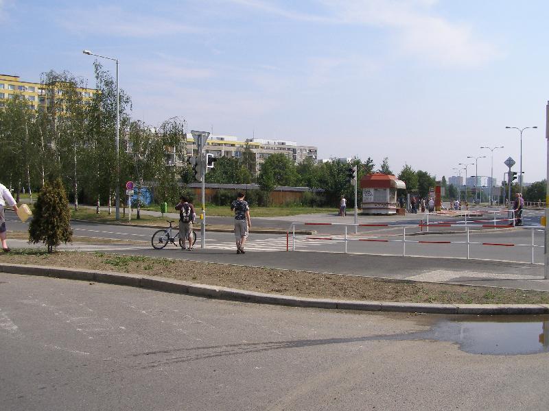 Křižovatka Opatovská 3, obrázek se otevře v novém okně